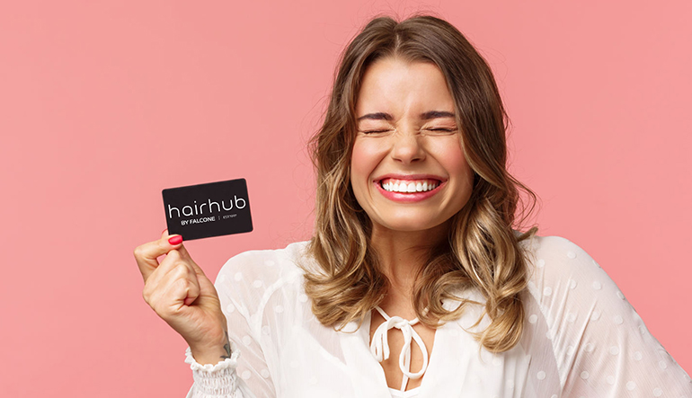 HairHub by Falcone Prize Draw Winner with Voucher
